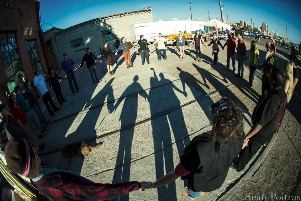 Community at the Rail Yards Market in Albuquerque